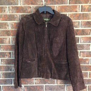 Eddie Bauer Leather Jacket Size Medium Very Nice